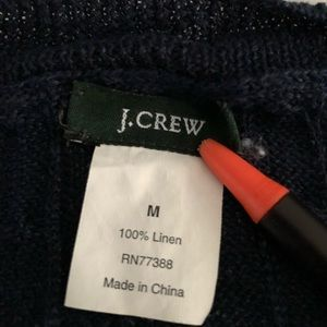 J. Crew Sweaters - J.Crew 100% Linen Cable Knit Thin Sweater Top